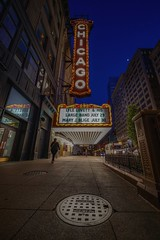 Chicago! (karinavera) Tags: travel sonya7r2 chicago voightlander12mm street night billboard theater urban city cinematicphotography
