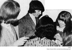 Bill Wyman with fans (albany group archive) Tags: albany ny history rolling stones concert palace theater 1965 wtry bill wyman 1960s radio old vintage photo photograph picture historic historical