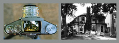 My House with the Exakta VX (John's Vintage Cameras) Tags: vintage analog film diptych exakta