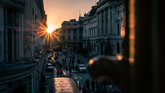 Sunset in the Old Town - Bucharest, Romania - Travel photography (Giuseppe Milo (www.pixael.com)) Tags: sun romania bucharest sunset travel old people oldtown city tourist urban buildings town light bucurești municipiulbucurești ro onsale