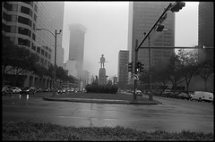 New Orleans (icki) Tags: february2006 louisiana neworleans blackandwhite dreary fog morning nopeople statue street