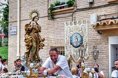 PROCESION DE LA VIRGEN DE LA ASUNCION. Bº OLIVER, ZARAGOZA. (oscarpuigdevall) Tags: virgendelaasuncion barriooliver semanasantadezaragoza semanasantadearagon cofradiadelallegadadejesusalcalvario oscarpuigdevall momentoscofrades procesion zaragoza aragon españa