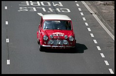Monte Carlo Mini (zweiblumen) Tags: minicoopers ajb44b montecarlorally 1964 1965 coventrymotofest coventry westmidlands england uk canoneos50d canon70300mm zweiblumen 2017 morris timomäkinen