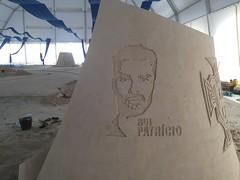 Stencil art on Sand (rijerse) Tags: rui patricio portugal soccer futbol stencil art sand leiria sculpture