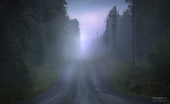 Misty road - morning (>>Marko<<) Tags: finland kangasniemi suomi aamu auringonnousu luonto usva mist dew nature ruby3 ruby5
