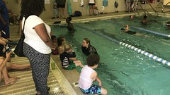 Booker learning to avoid other swimmers (bobmendo) Tags: swimminglesson float boogieboard paddleboard toddler swim learning