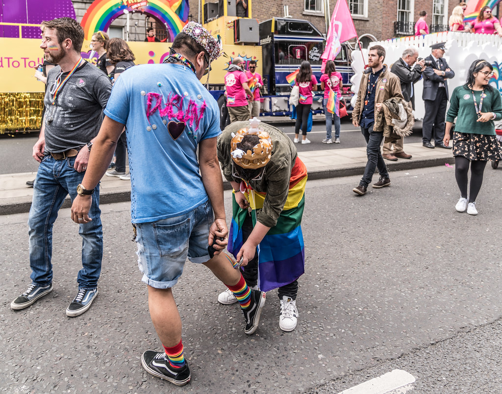 LGBTQ+ PRIDE PARADE 2017 [STEPHENS GREEN BEFORE THE ACTUAL PARADE]-129761