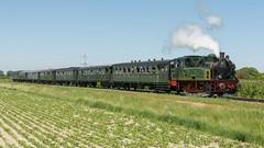 SGB- Gast locomotief HSIJ 22 (Tom) met passagierstrein