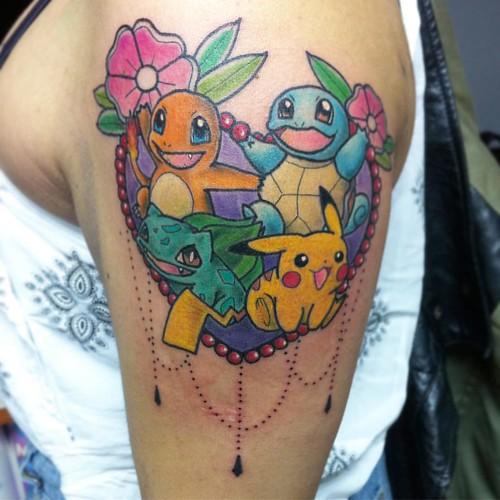 Tatuajes Anime pokemones hecho hoy en @abaddon.tatuajes #pokemon #tattoo #tatuaje