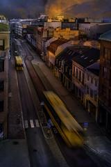 Slow sunset Malmö (AndreasNikon) Tags: nikond600 nikkor malmö sunset color sweden skanecounty solnedgång street bus buss nohdr nocrop ncg wonderful