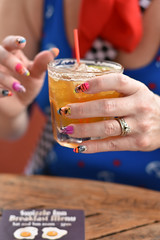 rum swizzle (VespertinePix) Tags: drink drinks dark stormy nails nailers nail art manicure fake straw yummy thirsty travel bermuda hamilton swizzle inn restaurant stranger portrait friend colours happy world