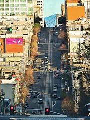 California Street, San Francisco (moonjazz) Tags: california street hill sanfrancisco driving steep cars photo painting modern vertigo west city urban vista high desent plunge streets vertical transportation