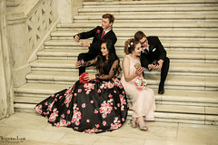 But first, let me take a selfie (Photos By Bill in WV) Tags: prom highschool westvirginia students student teenager teenagers girls boys date dress tux formal steps step marble selfie canon 70d spring pink black floral charlestonwv capitol winfield high school