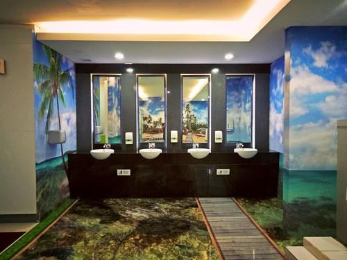 Toilets with Marine-Life Theme in Sepinggan Airport, Balikpapan, Indonesia