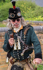 The pipe smoker (f22photographie) Tags: blistshill steampunk steampunkfestival steampunkfestivalatblistshill2017 sciencefiction sciencefantasy alternativehistory fantasyworld retrofuturistic hats pipesmoking goggles
