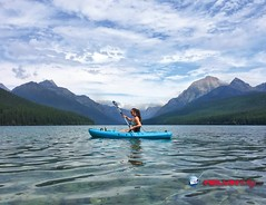 Fighter Lady (melvinkraj) Tags: fun collaboration team work river rafting clouds mountains girl oars boat blue beauty sky cinemagraph platograph