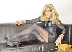 golden box (Katvarina) Tags: tgirl transgender transgirl transformation intersex intersexuality metrosexuality heels blackdress