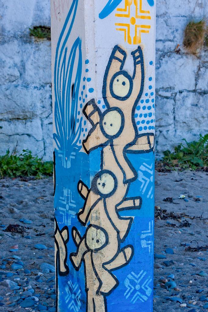 STREET ART AT THE OLD VICTORIAN TEA ROOMS [KILLINEY BEACH 2008]-129572