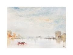 Scène de rivière (Yvan LEMEUR) Tags: aquarelle watercolour scènederivière peinture rivière river barque