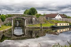 25th Lock bridge. (jonjodun) Tags: bridge grand canal monasterevin kildare ireland scenic train rail nikon d7100 tamron 18200 lock boat barge