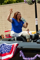 Senator Tammy Duckworth Scenes from the 2017 Skokie Illinois Independence Day Parade 7-4--17 0237 (www.cemillerphotography.com) Tags: festival holiday procession entertainers crowd onlookers celebration