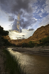 Desert River Clouds (courtney_meier (away)) Tags: arizona coloradoplateau landscape navajosandstone paria pariacanyon pariariver pariawilderness cloud clouds desert desertspring evening eveninglight magichour redrock redrockcountry redrocks river rushes sandstone sunset water wilderness