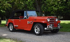 1950 Willys Jeepster (Custom_Cab) Tags: 1950 willys overland willysoverland jeep jeepster car truck red convertible phaeton 1949