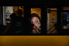 All-Seeing eye (Master Iksi) Tags: eye pyramid street streetphotography bus view lookthrough art nikond7100 sigma1750 orange blur motion belgrade