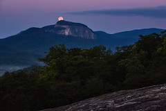 Summit (Josh Stamm) Tags: mountains moon tablerockstatepark tablerockmountain southcarolina southcarolinamountains joshstamm twilight beltofvenus blue rock
