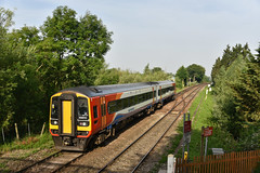 158810 - Whitlingham Junction - 2J63 (richa20002) Tags: class 158 diesel multiple unit dmu aga abellio greater anglia emt east midlands trains wherry lines ga