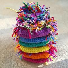 A pile of scrap cats (crochetbug13) Tags: crochet crocheted crocheting crochetcat crochetcats amigurumicat amigurumicats scrapyarn scrapyarncrochet usewhatyouhave wastenotwantnot