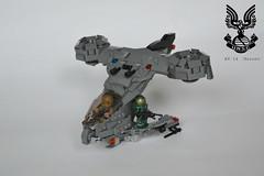 AV-14 Hornet ([LegionDude] ಠ_ಠ) Tags: lego halo hornet av14 spartan brick bricks marine vtol