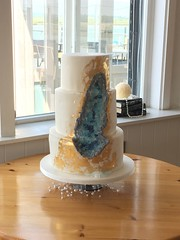 Aquamarine geode cake (The Cakatier at Sugar-Daisies) Tags: rockcandycake aquamarinegeodecake geodecake geode
