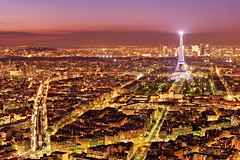 Paris from Above at Night (Barry O Carroll Photography) Tags: eiffeltower city fromabove tourmontparnasse montparnassetower panorama paris france cityoflight villelumiere cityscape urbanlandscape travel evening night toureiffel