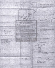 Stovall's Inn of Tomorrow Sign Plans (hmdavid) Tags: anaheim motel sign design disneyland innoftomorrow 1960s stovalls stovall googie