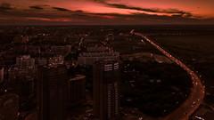 Sunset in Ryazan city (shiryavsky) Tags: ryazan rzn city sunset sincity night nightphoto dark red violet road drone mavicpro dji djimavic mavicphoto