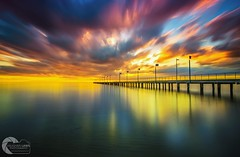 METALLIC WATERS (Vaughan Laws Photography | www.lawsphotography.com) Tags: pier longexposure sunset reflection nd10stop