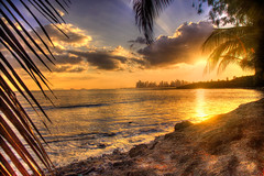A Glimpse of Panama (Bernai Velarde-Light Seeker) Tags: sea ocean mar oceano pacific pacifico water agua seashore orilla sunset atardecer ocaso sunlight city ciudad panama centro central america bernai velarde travel tourism landscape costa del este