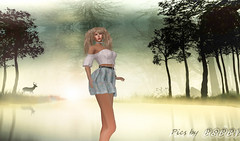 A walk in the woods (Poppys_Second_Life) Tags: popi popikone popikonesadventuresin2l popisadventuresin2l 2l secondlife virtualphotography poppy picsbyⓟⓞⓟⓟⓨ sl woods portrait portraiture spring deer