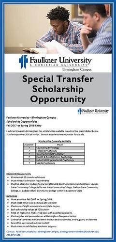 Faulkner University Transfer Scholarship