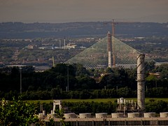 ICI Plant And New Runcorn Bridge Support From The Mersey View June 2017 (mrd1xjr) Tags: ici plant and new runcorn bridge support from the mersey view june 2017
