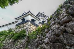 stone walls of Hikone-jo castle, HDR (armada_rider_jp) Tags: 彦根 城 彦根城 hikonejo castle hikone shiga sky fortress medieval stone stonewall japan history historical hdr 国宝 nationaltreasure 滋賀