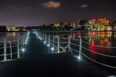 Lighted Walkway (lightonthewater) Tags: panamacitybeach sheraton florida pier bay ocean lightonthewater reflection