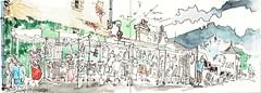 Lezay, au marché (Croctoo) Tags: croctoo croctoofr aquarelle watercolor marché lezay poitou poitoucharentes