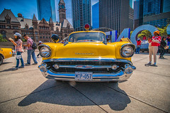 Yellow (A Great Capture) Tags: ig 150 retro metropolitan metro cityhall cruiser 1957 chevrolet chevy toronto cop nathanphillipssquare vintage old vehicle car police yellow chrome classic agreatcapture agc wwwagreatcapturecom adjm ash2276 ashleylduffus ald mobilejay jamesmitchell on ontario canada canadian photographer northamerica torontoexplore spring springtime printemps 2017 cityscape urbanscape eos digital dslr lens canon 70d outdoor outdoors streetphotography streetscape street calle history historic depthoffield dof efs1018mm 10mm
