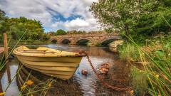 Splash of colour .... (Einir Wyn Leigh) Tags: landscape lake river boat summer sunshine bridge ducks trees wales cymru sky seasons snowdonia flowers flora