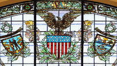E Pluribus Unum (Lawrence OP) Tags: usa congress library washingtondc eagle greatseal stainedglass