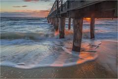 under the pier (Pwa25) Tags: seaford pier sunset victoria melbourne water ocean beach waves