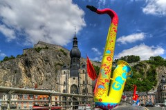 Dinant - 3217 (YᗩSᗰIᘉᗴ HᗴᘉS +7 000 000 thx❀) Tags: saxophone music dinant ville town city sky bluesky clouds hensyasmine