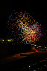58 (morgan@morgangenser.com) Tags: pacificpalisaddes beach belairbayclub blue celebrate fireworks color iso100 july3rd loud nikon night ocean orange pch people red reflection special spectacular streaks timeexposire tripod yellow amazing